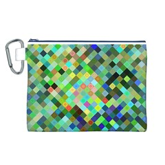 Pixel Pattern A Completely Seamless Background Design Canvas Cosmetic Bag (l)