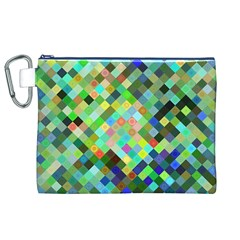 Pixel Pattern A Completely Seamless Background Design Canvas Cosmetic Bag (xl)