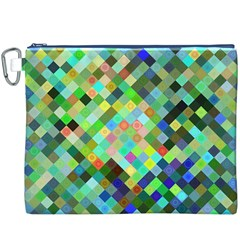 Pixel Pattern A Completely Seamless Background Design Canvas Cosmetic Bag (xxxl)