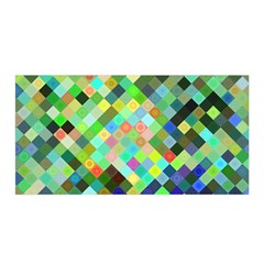 Pixel Pattern A Completely Seamless Background Design Satin Wrap