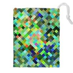 Pixel Pattern A Completely Seamless Background Design Drawstring Pouches (xxl)