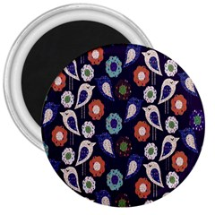 Cute Birds Seamless Pattern 3  Magnets