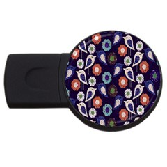 Cute Birds Seamless Pattern Usb Flash Drive Round (4 Gb)