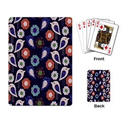 Cute Birds Seamless Pattern Playing Card