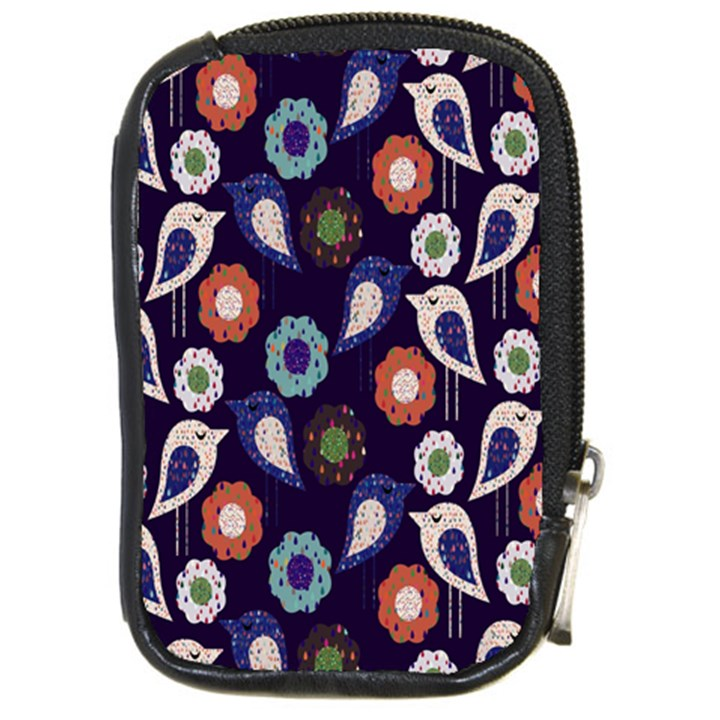 Cute Birds Seamless Pattern Compact Camera Cases