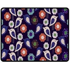 Cute Birds Seamless Pattern Fleece Blanket (medium)