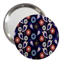 Cute Birds Seamless Pattern 3  Handbag Mirrors