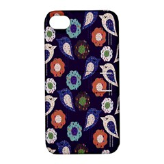 Cute Birds Seamless Pattern Apple Iphone 4/4s Hardshell Case With Stand