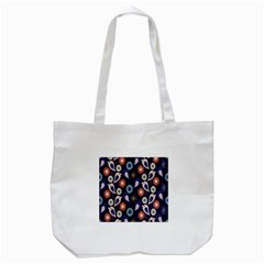 Cute Birds Seamless Pattern Tote Bag (white)