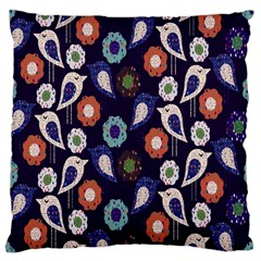 Cute Birds Seamless Pattern Standard Flano Cushion Case (two Sides)