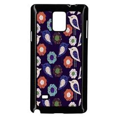 Cute Birds Seamless Pattern Samsung Galaxy Note 4 Case (black)