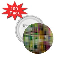 Woven Colorful Abstract Background Of A Tight Weave Pattern 1 75  Buttons (100 Pack)