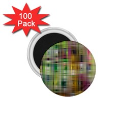 Woven Colorful Abstract Background Of A Tight Weave Pattern 1 75  Magnets (100 Pack)