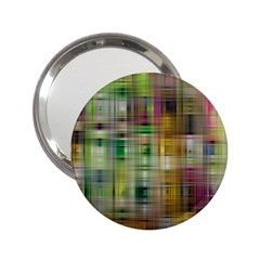 Woven Colorful Abstract Background Of A Tight Weave Pattern 2 25  Handbag Mirrors