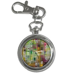 Woven Colorful Abstract Background Of A Tight Weave Pattern Key Chain Watches