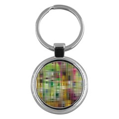 Woven Colorful Abstract Background Of A Tight Weave Pattern Key Chains (round)
