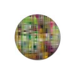 Woven Colorful Abstract Background Of A Tight Weave Pattern Magnet 3  (round)