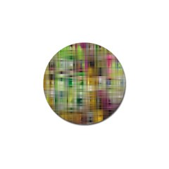 Woven Colorful Abstract Background Of A Tight Weave Pattern Golf Ball Marker