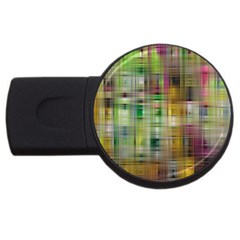 Woven Colorful Abstract Background Of A Tight Weave Pattern Usb Flash Drive Round (2 Gb)