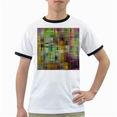 Woven Colorful Abstract Background Of A Tight Weave Pattern Ringer T Shirts