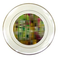 Woven Colorful Abstract Background Of A Tight Weave Pattern Porcelain Plates