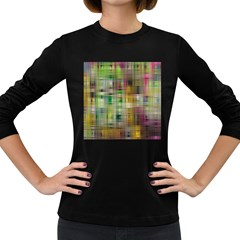 Woven Colorful Abstract Background Of A Tight Weave Pattern Women s Long Sleeve Dark T Shirts