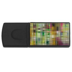 Woven Colorful Abstract Background Of A Tight Weave Pattern Usb Flash Drive Rectangular (4 Gb)