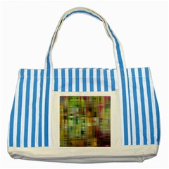 Woven Colorful Abstract Background Of A Tight Weave Pattern Striped Blue Tote Bag