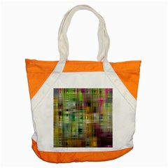 Woven Colorful Abstract Background Of A Tight Weave Pattern Accent Tote Bag