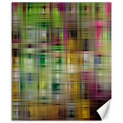Woven Colorful Abstract Background Of A Tight Weave Pattern Canvas 8  X 10
