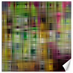Woven Colorful Abstract Background Of A Tight Weave Pattern Canvas 20  X 20