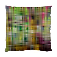 Woven Colorful Abstract Background Of A Tight Weave Pattern Standard Cushion Case (two Sides)