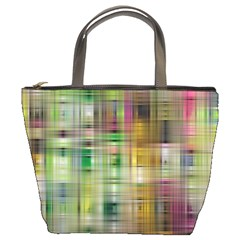 Woven Colorful Abstract Background Of A Tight Weave Pattern Bucket Bags