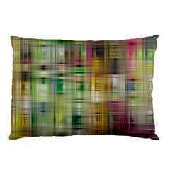 Woven Colorful Abstract Background Of A Tight Weave Pattern Pillow Case