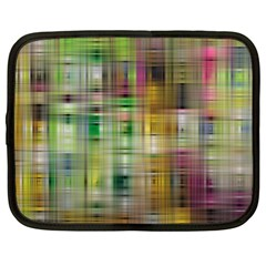 Woven Colorful Abstract Background Of A Tight Weave Pattern Netbook Case (xl)