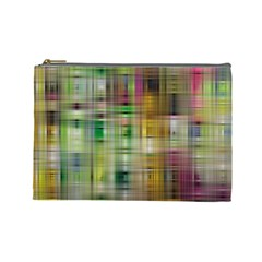 Woven Colorful Abstract Background Of A Tight Weave Pattern Cosmetic Bag (large)