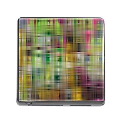 Woven Colorful Abstract Background Of A Tight Weave Pattern Memory Card Reader (square)
