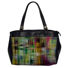 Woven Colorful Abstract Background Of A Tight Weave Pattern Office Handbags