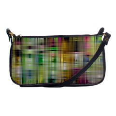 Woven Colorful Abstract Background Of A Tight Weave Pattern Shoulder Clutch Bags