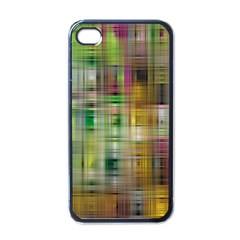 Woven Colorful Abstract Background Of A Tight Weave Pattern Apple Iphone 4 Case (black)