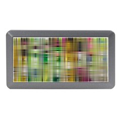 Woven Colorful Abstract Background Of A Tight Weave Pattern Memory Card Reader (mini)
