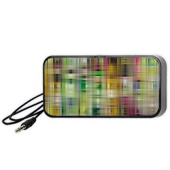 Woven Colorful Abstract Background Of A Tight Weave Pattern Portable Speaker (black)