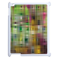 Woven Colorful Abstract Background Of A Tight Weave Pattern Apple Ipad 2 Case (white)