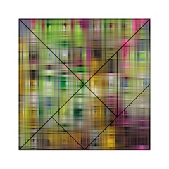 Woven Colorful Abstract Background Of A Tight Weave Pattern Acrylic Tangram Puzzle (6  X 6 )