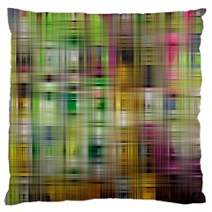 Woven Colorful Abstract Background Of A Tight Weave Pattern Large Cushion Case (two Sides)