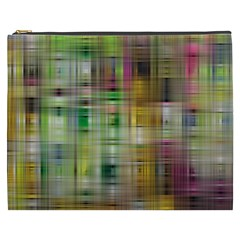 Woven Colorful Abstract Background Of A Tight Weave Pattern Cosmetic Bag (xxxl)