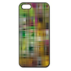 Woven Colorful Abstract Background Of A Tight Weave Pattern Apple Iphone 5 Seamless Case (black)
