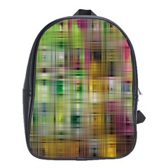 Woven Colorful Abstract Background Of A Tight Weave Pattern School Bags (xl)