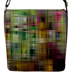 Woven Colorful Abstract Background Of A Tight Weave Pattern Flap Messenger Bag (s)