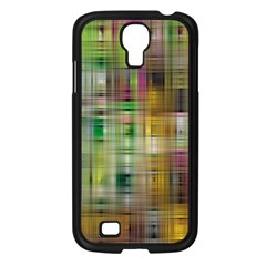 Woven Colorful Abstract Background Of A Tight Weave Pattern Samsung Galaxy S4 I9500/ I9505 Case (black)